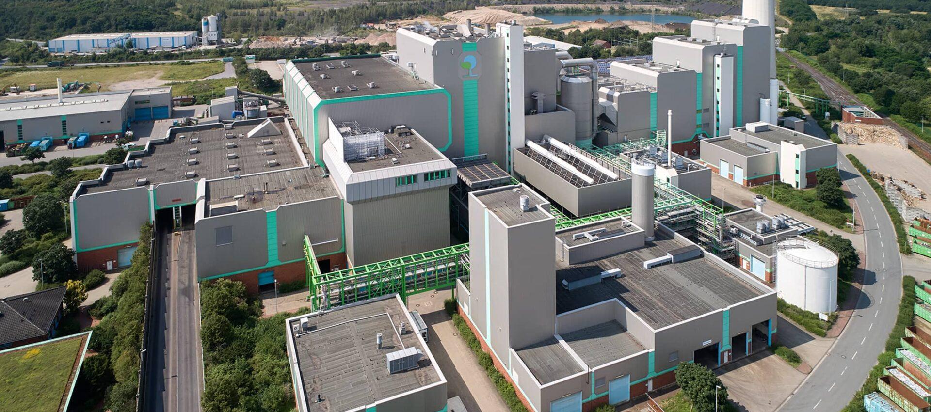Luftbild der Thermische Abfallbehandlung
